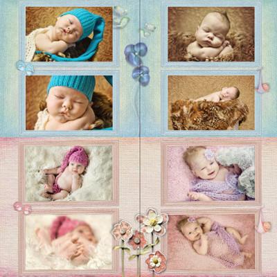 Nowy szablon fotoksiążki / fotoalbumu dla dzieci.